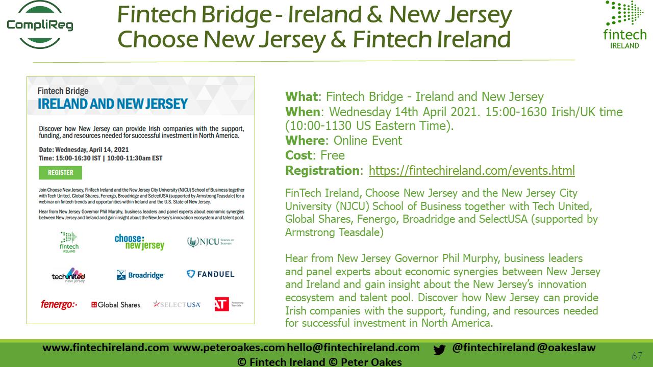 Fintech Bridge - Ireland & New Jersey - US FINTECH